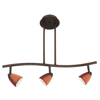 Serpentine Yellow Brown Metal 3-light Track Lighting