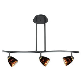 Serpentine Brown Metal 120-volt 50-watt 3-light Track Lighting