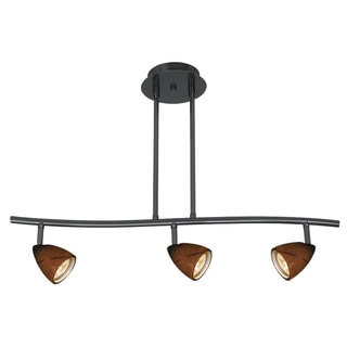 Serpentine 50W 3-Light Track With Bulbs