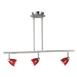 Serpentine 3-light 120-volt GU-10 Light Fixture with 3 50-watt Bulbs Included
