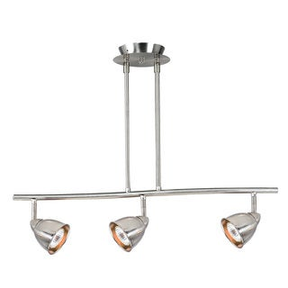 Serpentine Silver-tone Metal 120-volt 50-watt GU-10 3-light Track Lighting