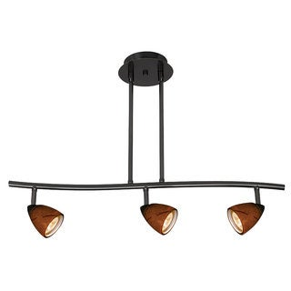 Serpentine Brown Metal 120-volt 50-watt GU-10 3-light Track Lighting With Bulbs Included