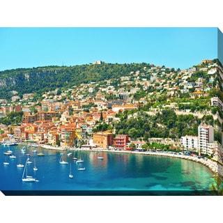 """Villefranche-sur-Mer, Cote d'Azur"" Giclee Print Canvas Wall Art"