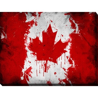 """Canada Flag"" Giclee Print Canvas Wall Art"