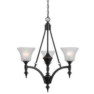 Tiffany-style 60-watt 3-light Chandelier