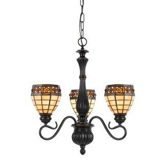 Tiffany-style 3-light 60-watt Pendant Fixture