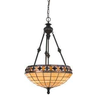 Tiffany-style 60-watt 3-light Pendant Fixture