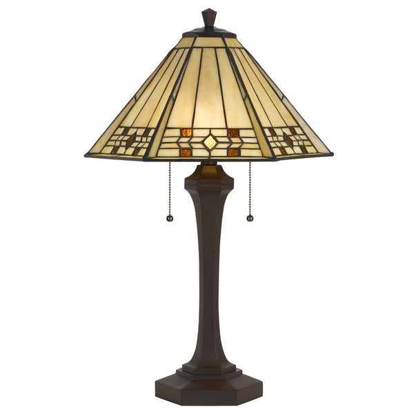 Shop Tiffany Style 2 Light 60 Watt Table Lamp Free Shipping Today