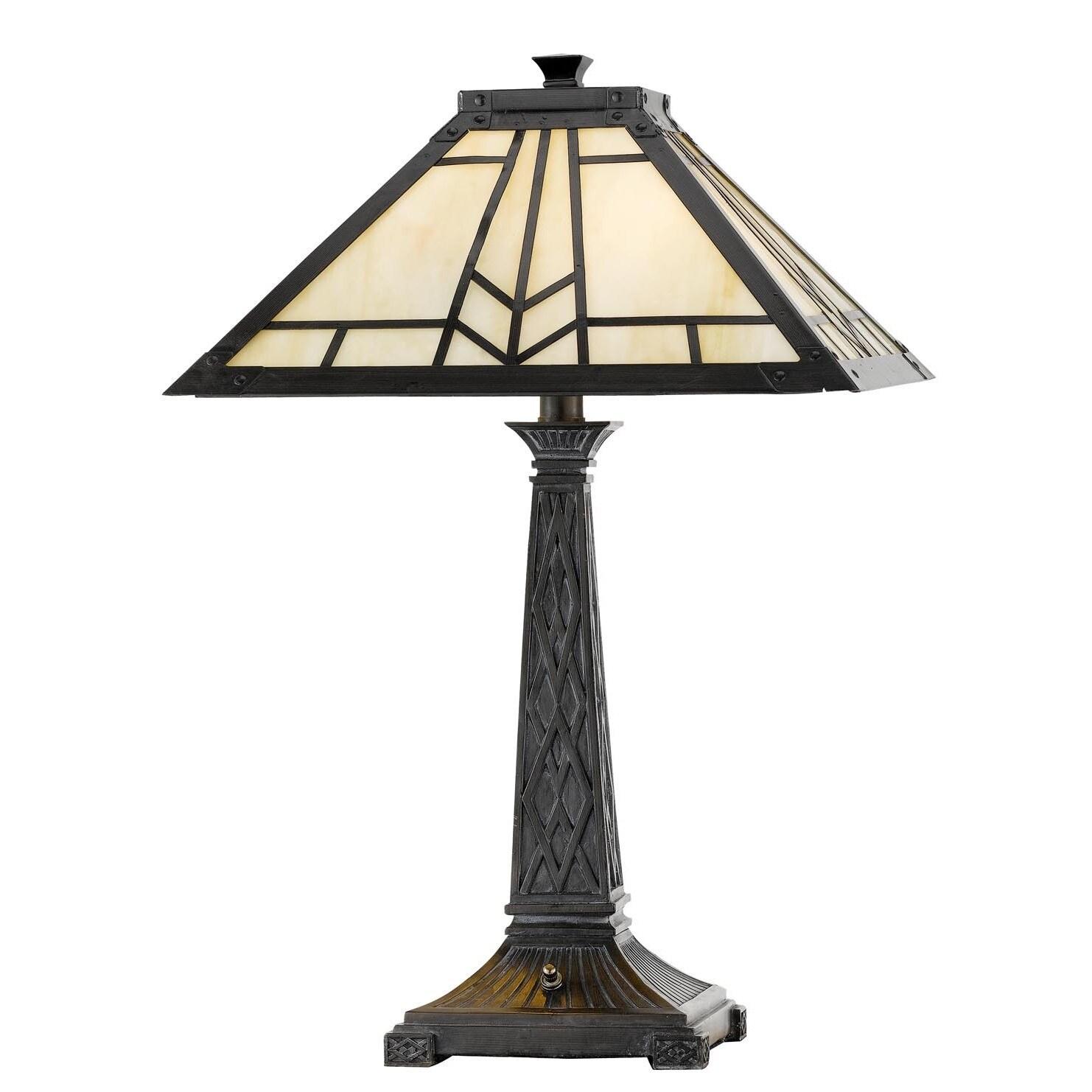 Mission/Tiffany-style 2-light 60-watt Table Lamp (Tiffany...