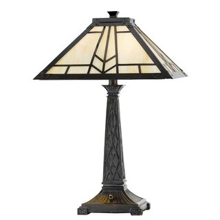 Mission/Tiffany-style 2-light 60-watt Table Lamp