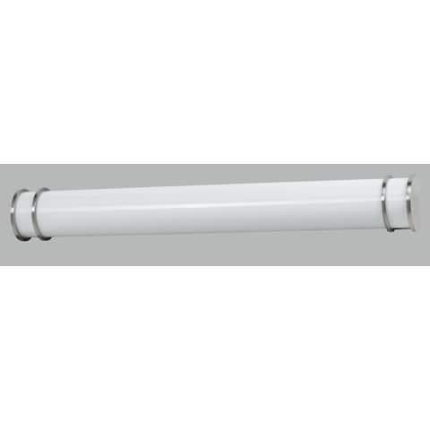 White Acrylic and Steel 36-inch 2-light 25-watt T8 Vanity Light