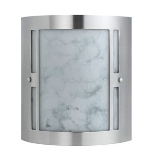 Brushed Steel and White Glass 2-light 23-watt GU24 Socket Wall Sconce