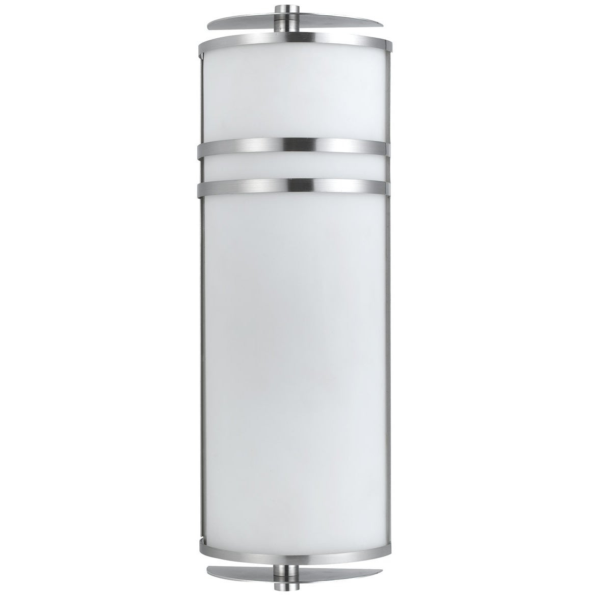 Silver-tone Metal and White Glass 2-light 20-watt GU24 So...