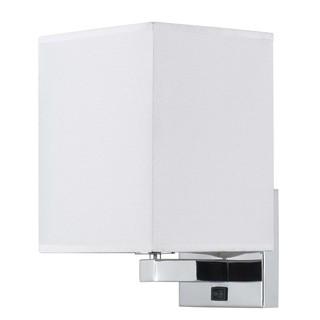 White/Silvertone Steel Wall Lamp