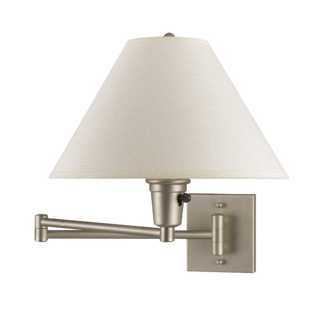 Brushed Steel Swing Arm Lamp Wall Sconce (Sconce), Beige ...
