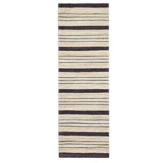 Jani Sergio Blue Jute Handwoven Rug (2'6 x 8')