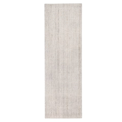 """Jani Andes Ivory Jute Handwoven Rug - 2'6"""" x 8'"""