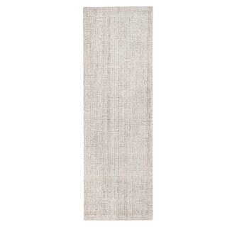 Jani Andes Ivory Jute Handwoven Rug (2'6 x 8')