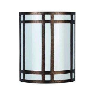 White and Brown 18-watt 2-socket Wall Lamp