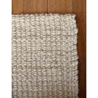 Jani Andes Ivory Jute Handwoven Rug (4' x 6')