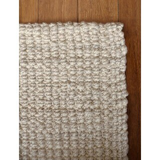 Jani Andes Ivory Jute Handwoven Rug - 4' x 6'