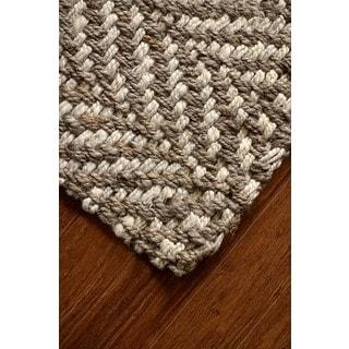 Jani Sandscape Natural Jute Handwoven Rug (10'x 14')
