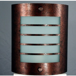 Oxidized Brown Metal 1-light Wall Sconce
