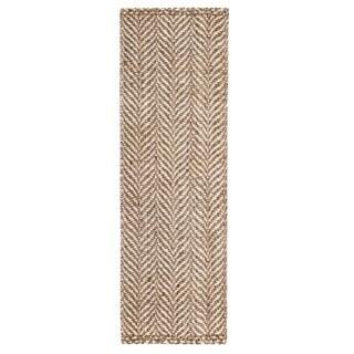 Jani Sandscape Natural Jute Handwoven Rug (2'6x 8')
