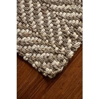 Jani Sandscape Natural Jute Handwoven Rug (4'x 6')
