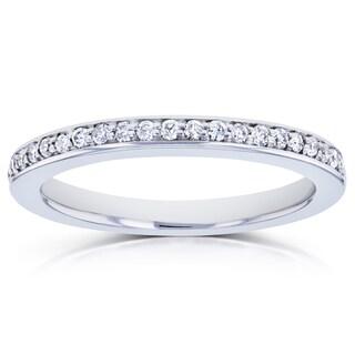 Annello by Kobelli 14k White Gold 1/6ct TDW Diamond Wedding Band (G-H, I1-I2)