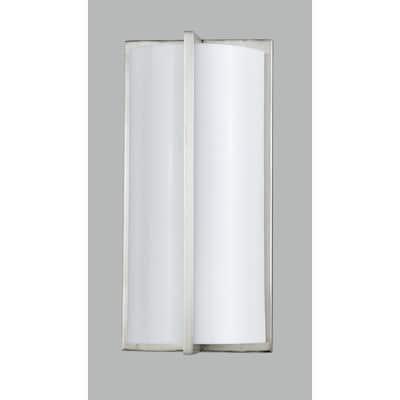PLC Brushed Steel 18-watt Wall Lamp