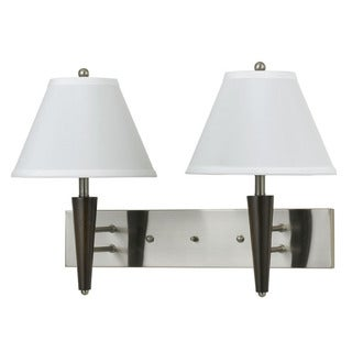 White/Silver/Brown Metal Dual-lamp Fixture