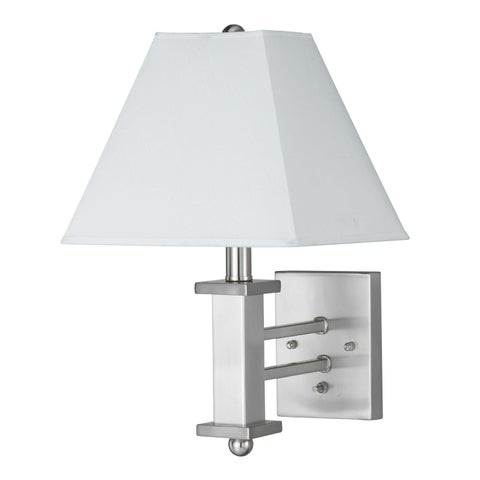 White and Chrome Metal 60-watt On/Off Switch Wall Lamp
