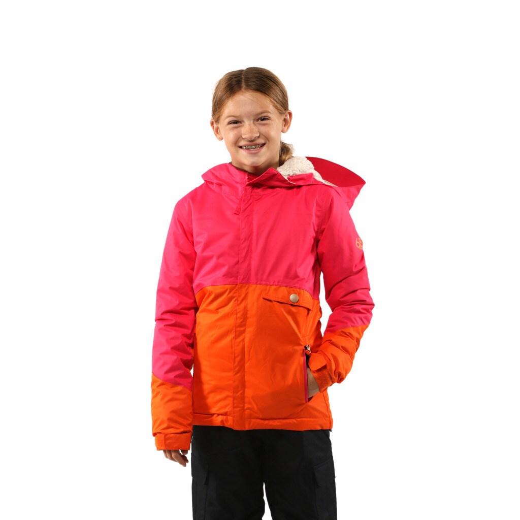 686 Girls Coral Wendy Insulated Jacket (S (7-8)), Orange,...