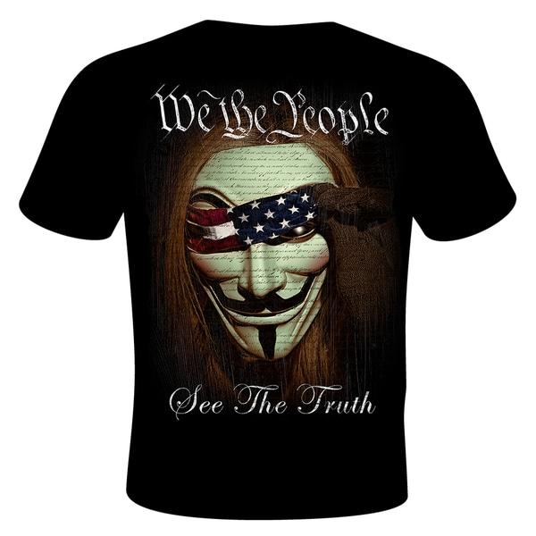 Daveed Benito We the People Black Cotton Crewneck Short-sleeve T-shirt