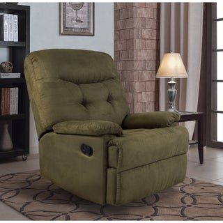 Big Jack Microfiber Recliner Chair, 7PM Collection by Ocean Bridge (Option: Green - Semi-Soft)