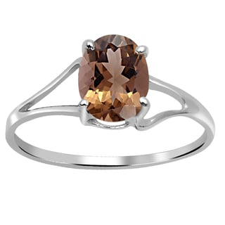 Orchid Jewelry 1.10 Carat Smoky Quartz 925 Sterling Silver Ring