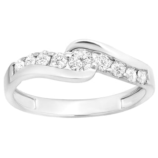 14k White Gold 1/2ct TDW Round Diamond Bridal Engagement Ring (H-I, I1-I2)