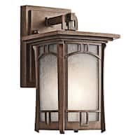 Kichler Lighting Soria Collection 1-light Aged Bronze Wall Lantern