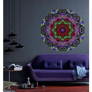 Mandala Full Color Decal, Mandala Full color sticker, colored Mandala Sticker Deckal size 44x44