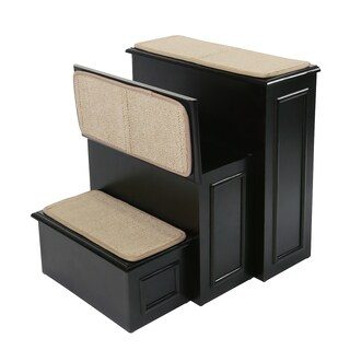 Gen7Pets Espresso Brown Wood and Carpet Conversion Step Pet Stairs