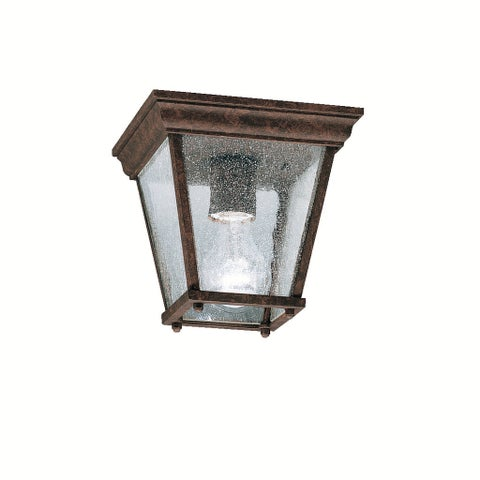 Kichler Lighting Transitional 1-light Tannery Bronze Outdoor Flush Mount