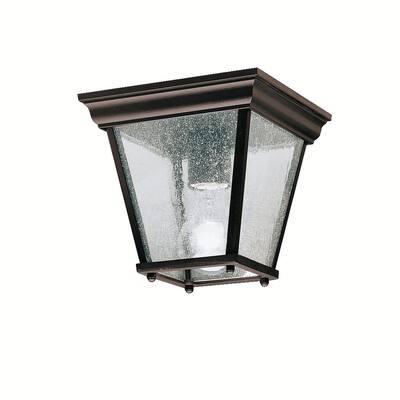 Kichler Lighting Transitional 1-light Black Outdoor Flush Mount - 7.25-in x 7.25-in