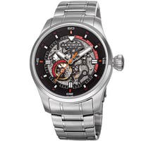Akribos XXIV Men's Automatic Skeleton Stainless Steel Silver-Tone Bracelet Watch