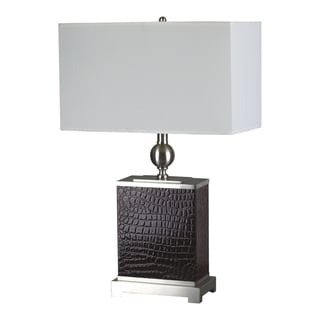 Furniture of America Cassa Metal Textured 1-light Table Lamp (Set of 2)