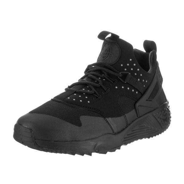a8da0a022b64 Nike Men  x27 s Air Huarache Black Faux Leather Utility Running Shoes