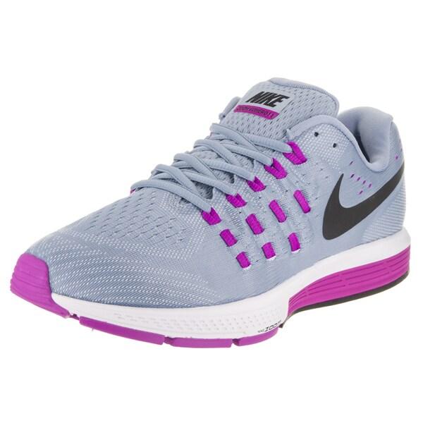 3205295c587e Shop Nike Women s Air Zoom Vomero 11 Blue Fabric Wide Running Shoes ...