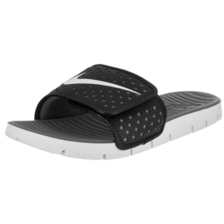 Nike Men's Flex Motion Black Synthetic Leather Slide Sandal