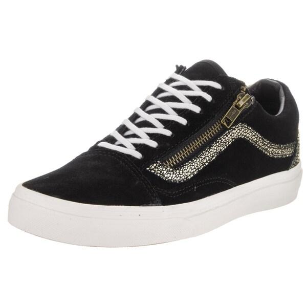 Shop Vans Unisex Old Skool Zip Gold Dots Skate Shoe - Free Shipping ... 429666569