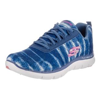 Skechers Women's Flex Appeal 2.0-Loud Clear Blue Textile Casual Shoes